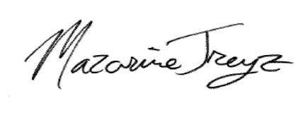 Mazarine Treyz signature